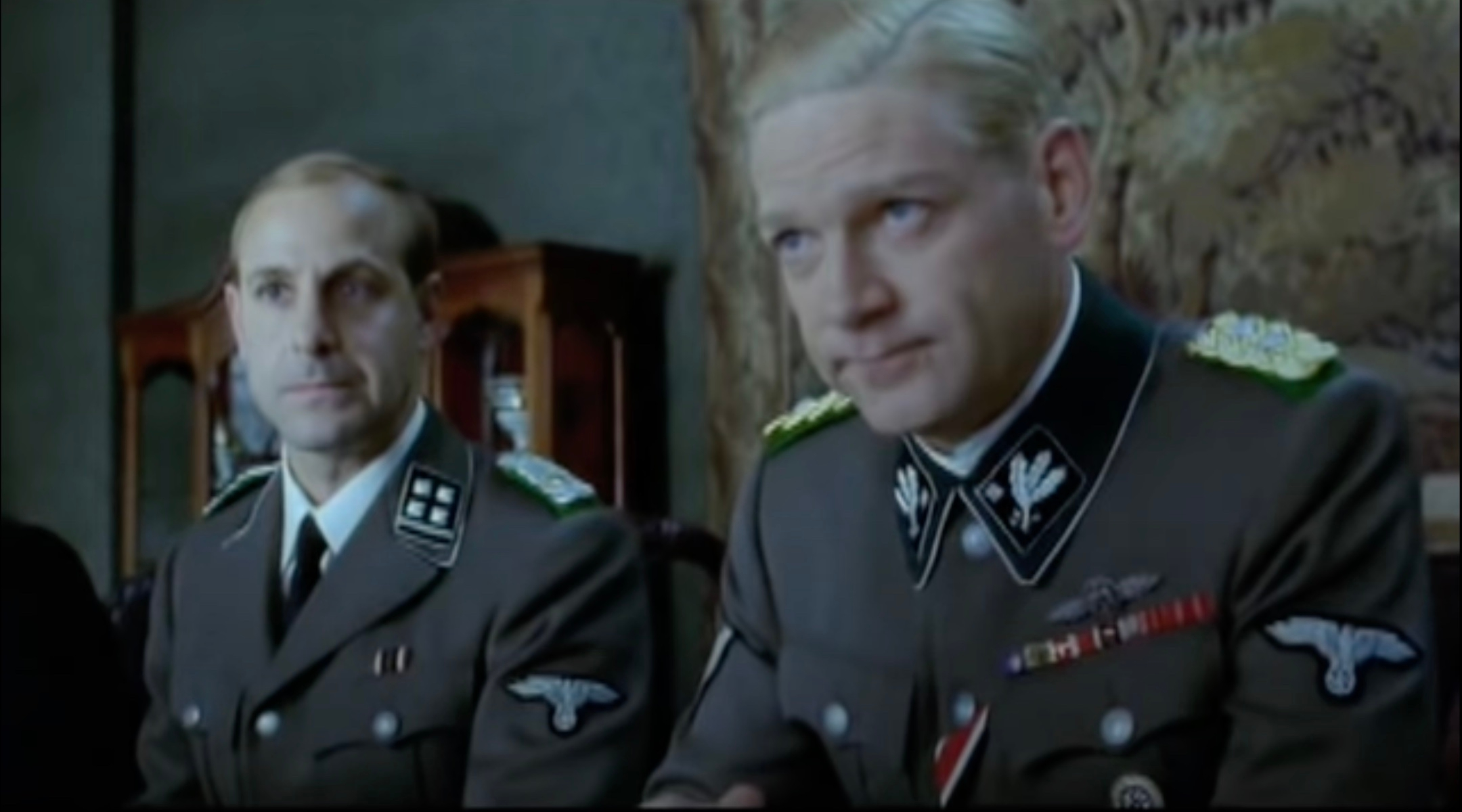 """Stanley Tucci and Kenneth Branagh in """"Conspiracy"""""""