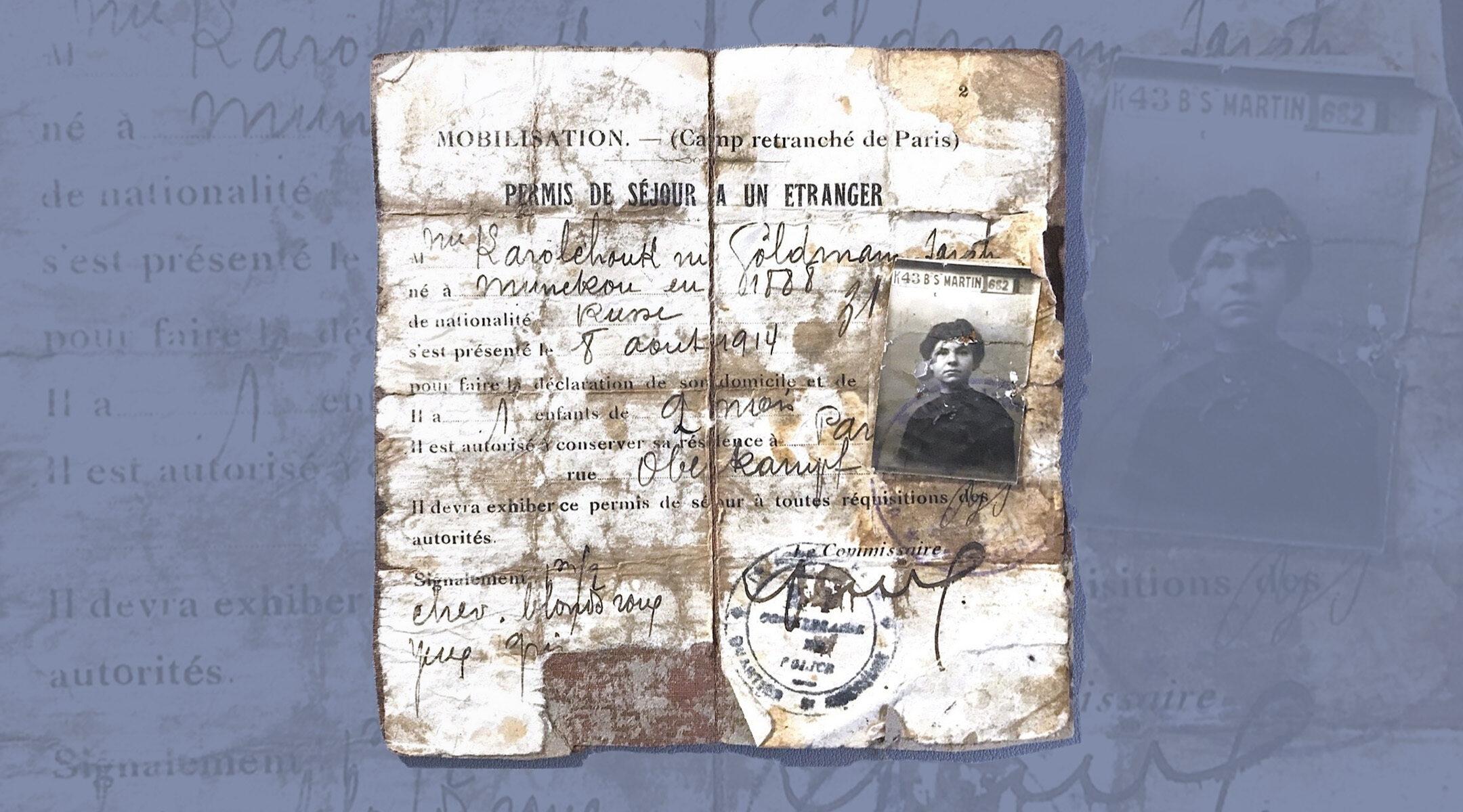 French Jewish immigrant 1914