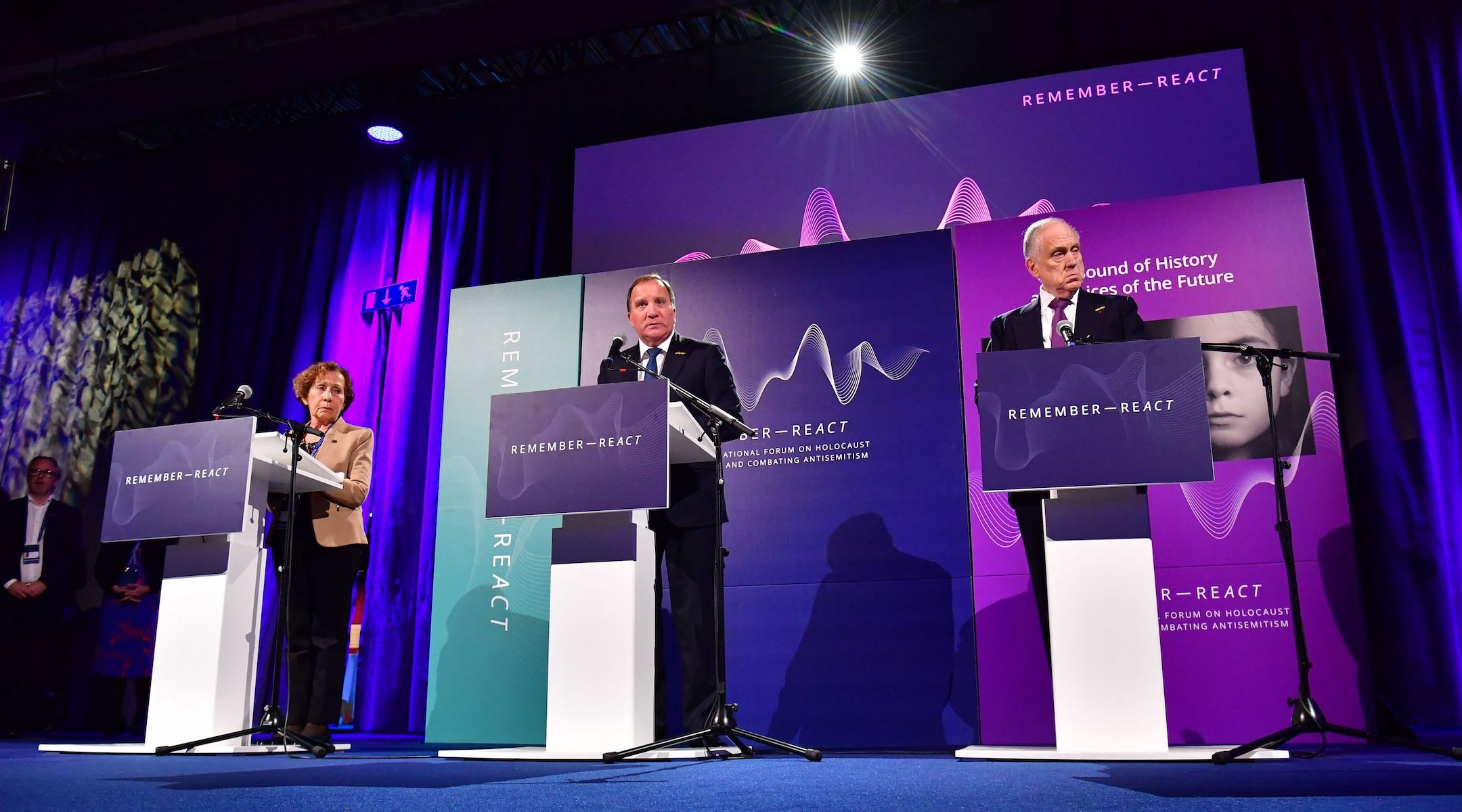 Sweden's prime minister speaks at antisemitism event