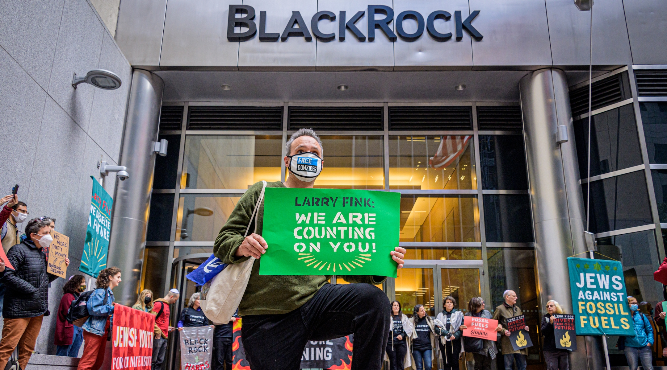 Rabbis arrested demanding climate action by Wall Street giant's Jewish CEO