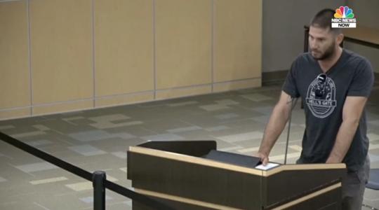 jake berman speaks at texas school board meeting