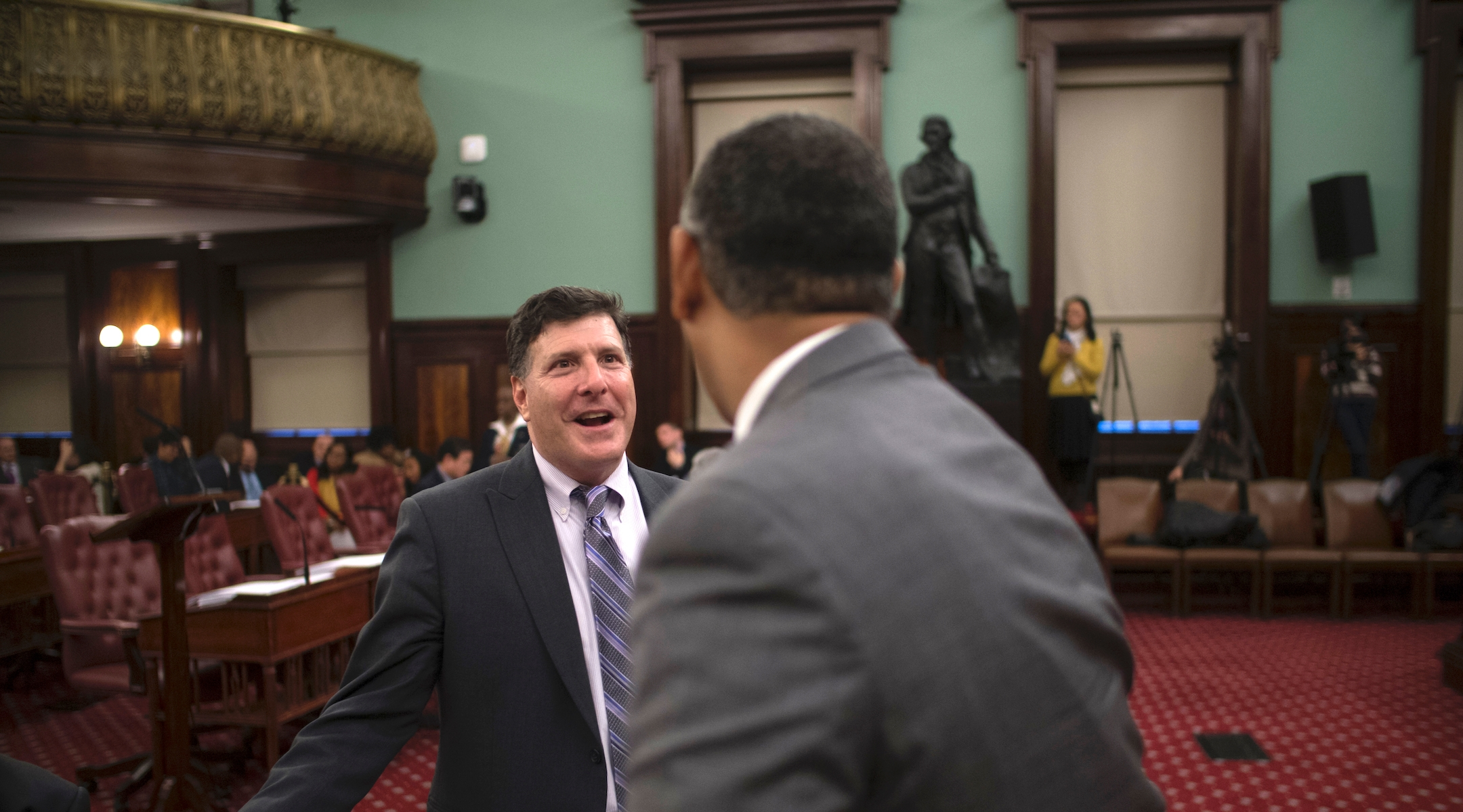 The Thomas Jefferson statue removed from New York City Council chambers was a gift from...