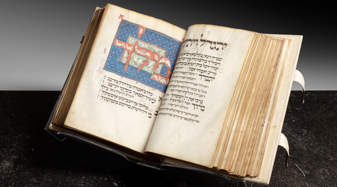 Medieval Jewish prayerbook sold for $8.3 million, a near-record for Judaica