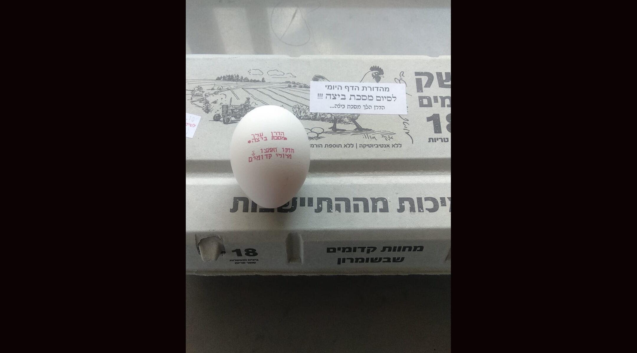 Daf Yomi egg talmud beitzah