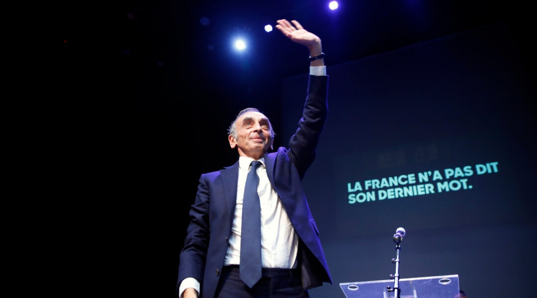 French essayist and political journalist Eric Zemmour arrives at a debate in Beziers, France on Oct, 16, 2021. (Chesnot/Getty Images)