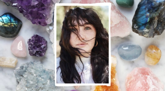 Jewitches founder Zo Jacobi on crystals background